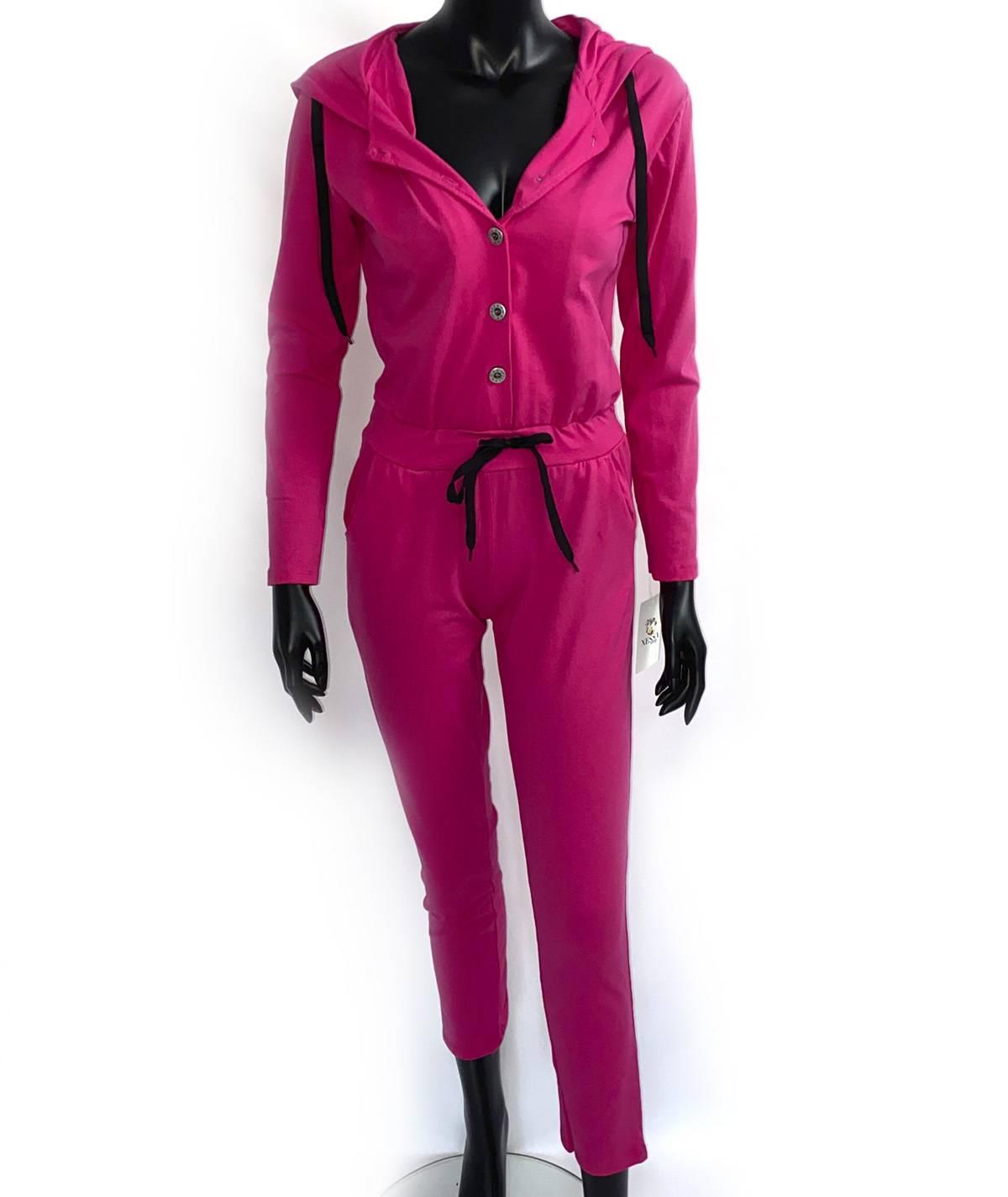 Pink sports jumpsuit